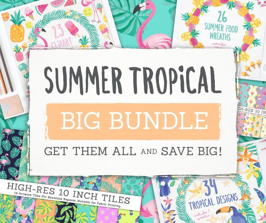 Grab all the Clipart and Paper Packs in this set for one low price!